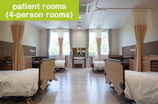 patient rooms (4-person rooms)