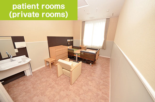 patient rooms (private rooms)