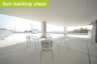 Sun basking plaza