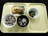 常食 赤飯、魚