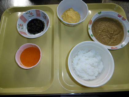 粒マ 赤飯、魚